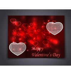 Valentine Brochure flyer card and book vector image