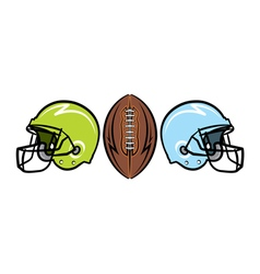 American Football Helmets and Ball vector image vector image