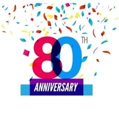 Anniversary design 80th icon anniversary vector image vector image