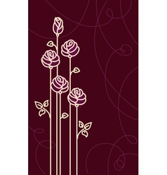 Card with Stylized Roses Graphic vector image vector image