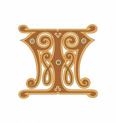 golden letter t vector image vector image