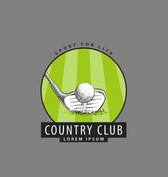 logo for the golf club vector image vector image