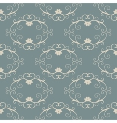 Seamless with vintage floral pattern vector image vector image