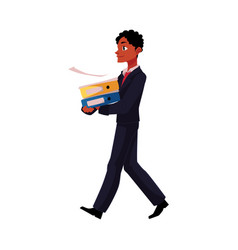 black african american businessman going vector image vector image
