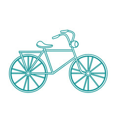 blue silhouette shading cartoon antique bicycle vector image