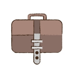 Briefcase document business with strap sketch vector