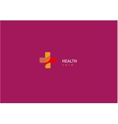 bright logo on medicine and health cross vector image vector image