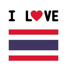 I love Thailand8 vector image