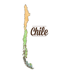 isolated chilean map vector image vector image