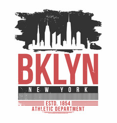 new york brooklyn typography for t shirt print t vector image
