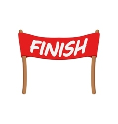 Red ribbon in finishing line vector image