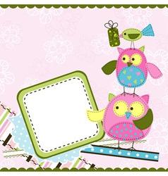 Template birthday greeting card vector