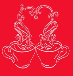 twoCups vector image
