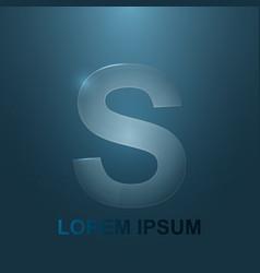 a glass logo s vector image