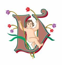 fairytale letter v vector image vector image