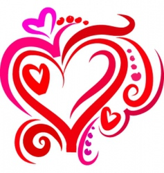 groovy heart background vector image vector image