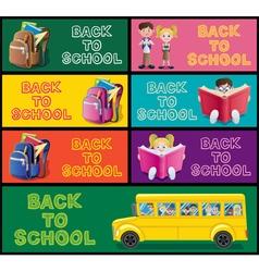School Banner Set Part 1 vector image vector image