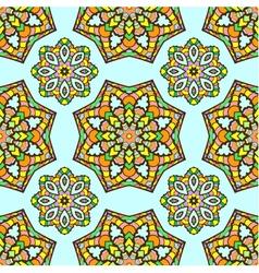 seamless pattern made from abstract mandalas vector image vector image