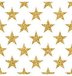 Stars seamless pattern gold vector image