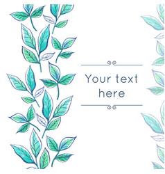 watercolor floral border vector image vector image