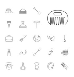 22 tool icons vector