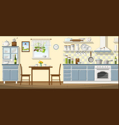 a classic kitchen vector image