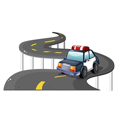 A police car at the road vector image