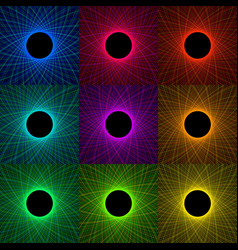 Abstract metal web of steel filaments vector