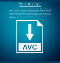 Avc file document icon download avc button icon vector