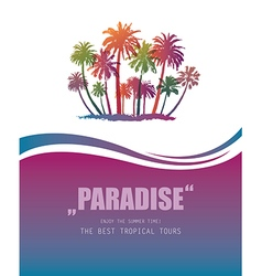Background with Tropical Paradise vector image
