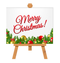 Banner with christmas border vector
