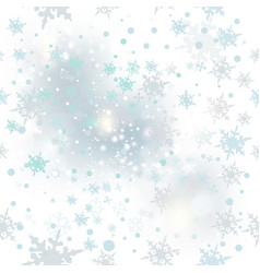 beautiful light background with snowflakes vector image