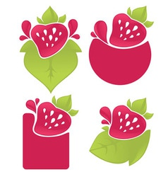 berry stickers vector image