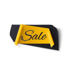 Black and yellow abstract sale banner isolated vector