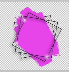 black shiny vintage square frame with brush vector image