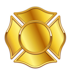 Blank fire dept logo base gold with gold trim vector