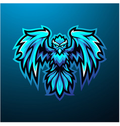 Blue phoenix mascot logo design vector