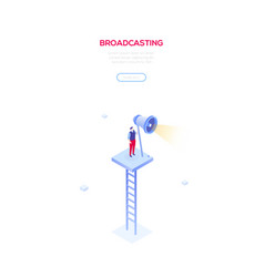 broadcasting - modern isometric vector image