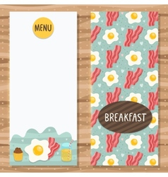 Brochure template for breakfast menu vector