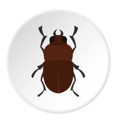 Bug icon circle vector