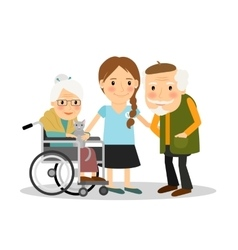 Caring for elderly patients vector