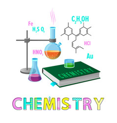 Chemistry items subject poster vector