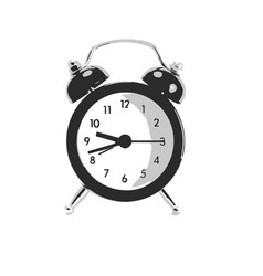 Clock on isolated white vector