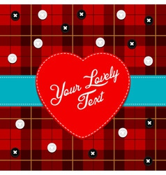 cloth background with heart vector image