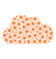 Cloud figure of sun icons vector