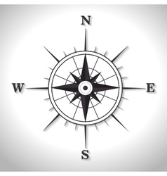 compass symbol retro icon vector image