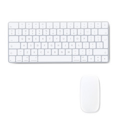 Computer keyboard with mouse isolated background vector