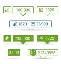 Different web informers vector