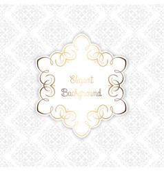 elegant pattern background vector image