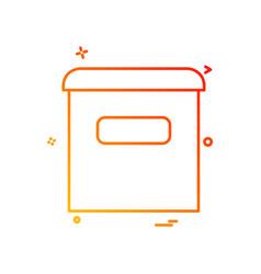 email box icon design vector image
